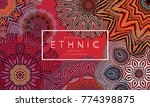 ethnic banners template with... | Shutterstock .eps vector #774398875