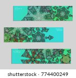 ethnic banners template with... | Shutterstock .eps vector #774400249