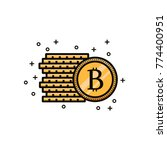 bitcoin crypto currency sign... | Shutterstock .eps vector #774400951