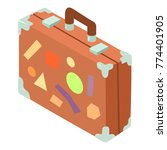 suitcase icon. isometric... | Shutterstock .eps vector #774401905