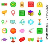 screening icons set. cartoon...   Shutterstock .eps vector #774402829