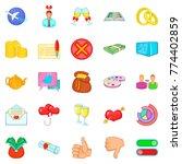 choice icons set. cartoon set...   Shutterstock .eps vector #774402859