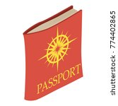 passport icon. isometric...