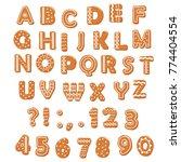 christmas gingerbread cookies... | Shutterstock .eps vector #774404554