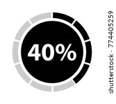 forty percentage circle icon ... | Shutterstock .eps vector #774405259