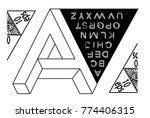 impossible shape font. memphis