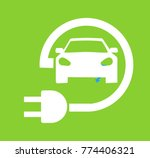 electric car in refill icon... | Shutterstock .eps vector #774406321