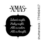 silent night calligraphic... | Shutterstock .eps vector #774406417