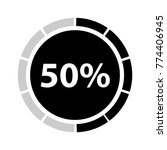 fifty percentage circle icon ... | Shutterstock .eps vector #774406945