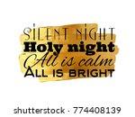 silent night calligraphic... | Shutterstock .eps vector #774408139