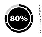 eighty percentage circle icon ... | Shutterstock .eps vector #774412075