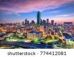 dallas  texas  usa downtown... | Shutterstock . vector #774412081