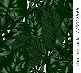 watercolor seamless pattern... | Shutterstock .eps vector #774418969