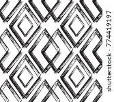 rhombus paint brush strokes... | Shutterstock .eps vector #774419197