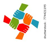 hand charity foundation logo | Shutterstock .eps vector #774421195