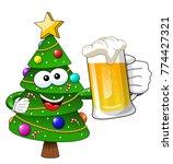 xmas or christmas tree mascot... | Shutterstock .eps vector #774427321