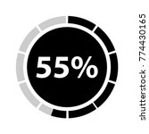 fifty five percentage circle... | Shutterstock .eps vector #774430165