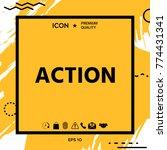 action button symbol   Shutterstock .eps vector #774431341