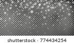 christmas falling snow vector... | Shutterstock .eps vector #774434254