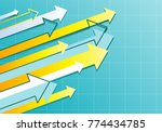 financial arrow graph    Shutterstock .eps vector #774434785