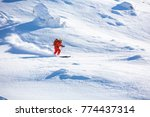 out of piste skiing.  good... | Shutterstock . vector #774437314