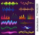 music waves of sound on radio...