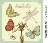 butterfly background | Shutterstock .eps vector #77443837