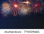 beautiful colorful fireworks... | Shutterstock . vector #774439681