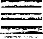 Grunge Paint Stripe . Vector...