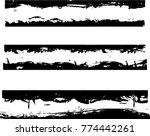 grunge paint stripe . vector... | Shutterstock .eps vector #774442261