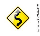 left winding road symbol icon... | Shutterstock .eps vector #774449179