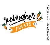carrot reindeer treats | Shutterstock .eps vector #774450259