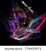moving colorful lines of...   Shutterstock .eps vector #774455971