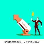 preparation for a shot. concept.... | Shutterstock .eps vector #774458569