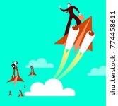 paper plane. haste. victory... | Shutterstock .eps vector #774458611