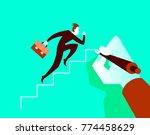 businessman running on the...   Shutterstock .eps vector #774458629