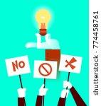 vote for the idea. concept.... | Shutterstock .eps vector #774458761