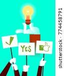 vote for the idea. light bulb.... | Shutterstock .eps vector #774458791