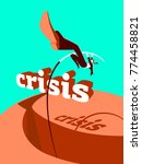 overcoming the crisis. success. ... | Shutterstock .eps vector #774458821