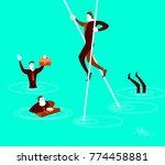 the smart will overcome all... | Shutterstock .eps vector #774458881