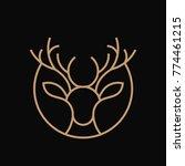 deer line art illustration | Shutterstock .eps vector #774461215