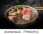 chinese hot pot | Shutterstock . vector #774461911