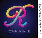 r letter logo icon blending... | Shutterstock .eps vector #774464854