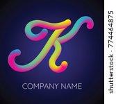 k letter logo icon blending... | Shutterstock .eps vector #774464875