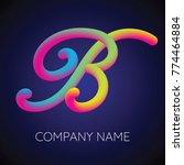 b letter logo icon blending... | Shutterstock .eps vector #774464884