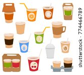 a set of glasses for drinks ... | Shutterstock .eps vector #774466789