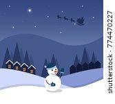 cartoon flat vector...   Shutterstock .eps vector #774470227