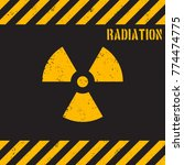 vector grunge radiation... | Shutterstock .eps vector #774474775