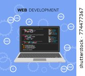 web development infographic.... | Shutterstock . vector #774477367