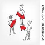 circle work concept vector... | Shutterstock .eps vector #774479035